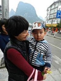 A little boy in China
