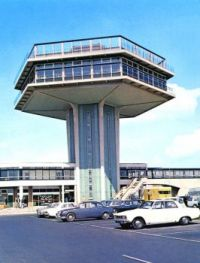 1960s Postcard of the Forton Services  Pennine Tower