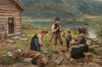 """Jahn Ekenaes, """"A Successful Duck Hunt"""", 1909"""