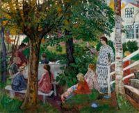 """Birthday in the Parsonage Garden,"""" 1911-27"""