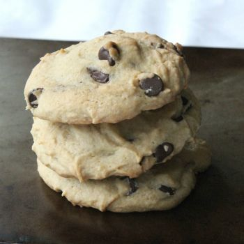 Tagalong Stuffed Chocolate Chip Cookies