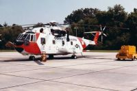 Coast Guard HH3F on deck at New Orleans