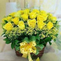 Gift Basket..... Friendship Yellow Roses