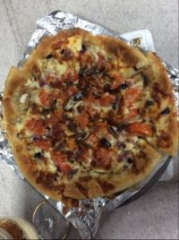 Mushroom pizza made by me :)