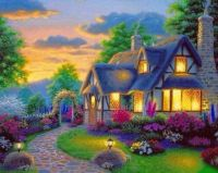 Adorable cottage painting