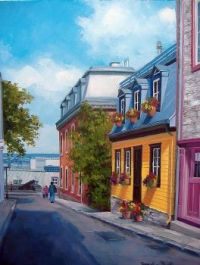 Old Quebec City Painting