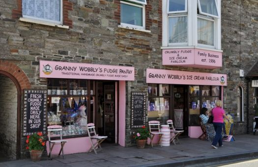 Granny Wobbly's Fudge Pantry, Tintagel, Cornwall,  Photo by Lewis Clarke