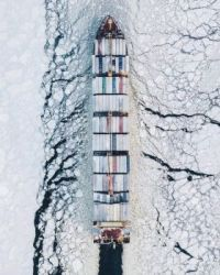 2020 Aerial Photography Awards: 5. Fairway of the Gulf of Finland by Alexander Sukharev