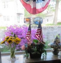 For Memorial Day, Flag Day, July 4th  and Flowers Shadow  (from inside)