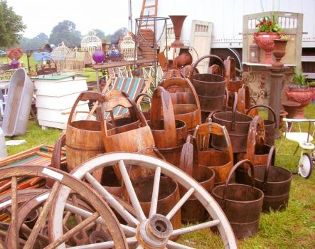 wooden buckets at the Salvo Fair