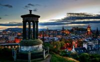 Sundown in Edinburgh, Scotland