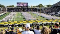 The Brigade on the Navy-Marine Corps Memorial Stadium Field after March-On