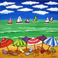 Whimsical Beach Scene