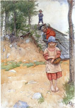 "Carl Larsson, ""By the Cellar"" 1917"