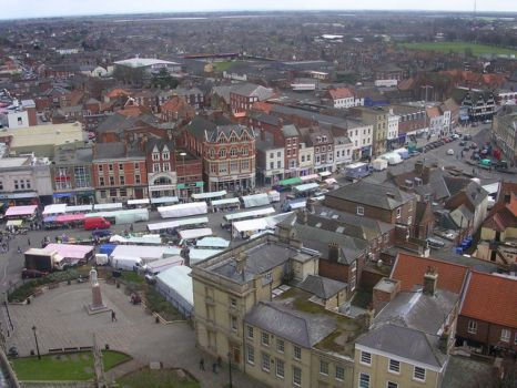 Boston from the Stump, Lincolnshire.  Photo by Richard Slessor