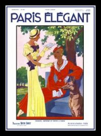 Themes Vintage illustrations/pictures - French Art Deco Fashion Magazine Cover