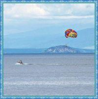 Paragliding on Lake Taupo.
