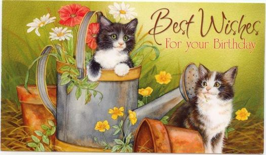 KITTENS FOR YOUR BIRTHDAY, DEAREST MO/SPARKLES   Lots of hugs winging their way to you, my friend.
