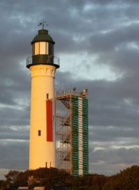 Queenscliff lighthouse at dusk