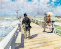 Pierre-Georges Jeanniot (1848–1934), The Walk on the Pier