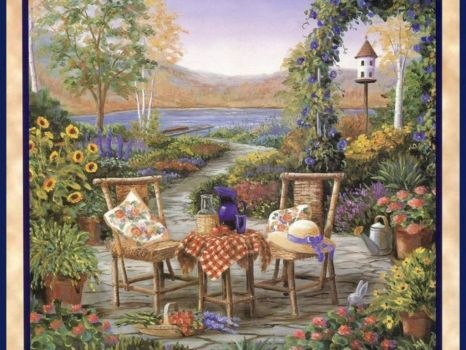 Patio By The Lake~Barbara R Felisky