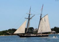 Schooner leaving Woods Hole