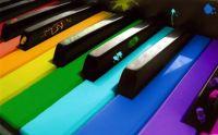 Painted Piano Keys