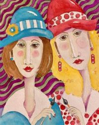 Art by - Penny Day Thompson  'Two Artists'