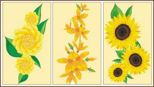 Theme, yellow: flower panels