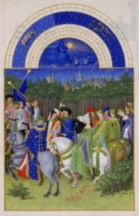 month of May from Les Très Riches Heures du Duc de Berry