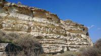 chalk rock formation near Kourion Archeological Site, Cyprus