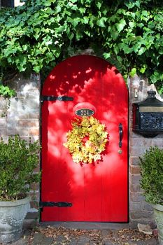 Savannah red door