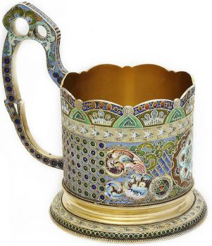 Russian Enamel Tea Glass Holder