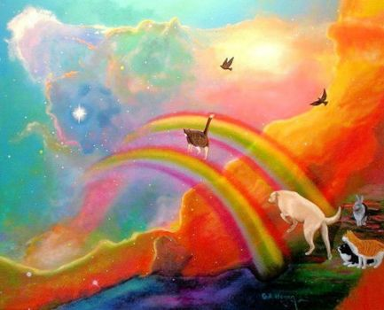 rainbow bridge painting