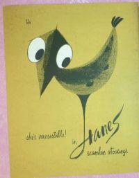1950s Hanes Stockings advertisement
