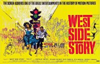 WEST SIDE STORY - 1961 MOVIE POSTER  NATALIE WOOD, RICHARD BEYMER, RUSS TAMBLYN, GEORGE CHAKIRIS, RITA MORENO