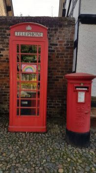 Telephone Box library and Post Box, Great Budworth Cheshire