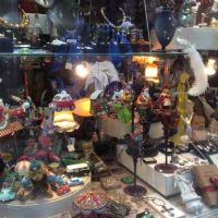 The front window of a second-hand shop in Regensburg, Germany