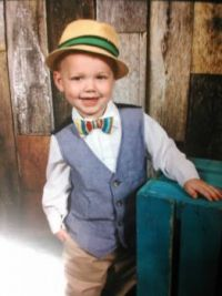 My first great grandson, Levi, who just turned two.