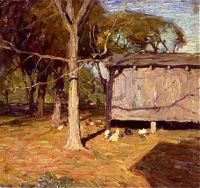 Carolyn's Hens (or view of a chicken coop), c.1910, N. C. Wyeth (1882-1945)