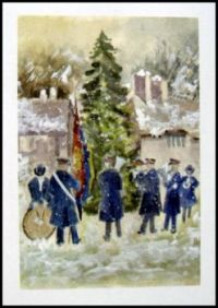 Seasonal - Winter - Art Card - Scenic Snow Salvation Army Band 1 (Largest)