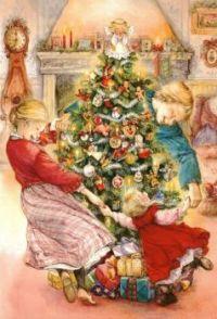 Dancing Around The Christmas Tree - Art by Lisi Martin