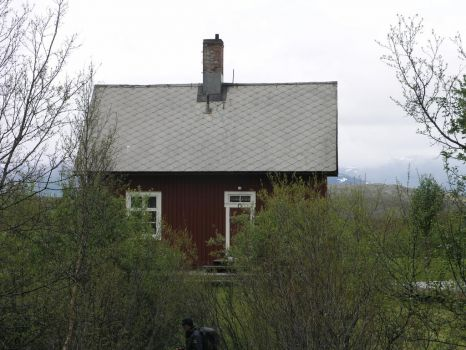 Red house from Lapland Sweeden