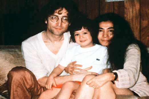 John, Sean and Yoko Lennon