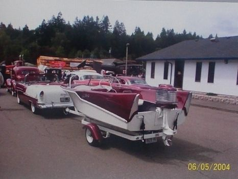 Matching car & boat 1955 Chevy Bel Air Convertible. (spunky & the bandit).