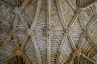 Vaulted ceiling in the ruin of the Hall in Minster Lovell - 16th Jun 2013