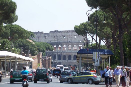Looking toward the Colosseum Rome