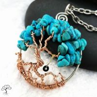 Turquoise Tree of Life with Swing