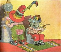 Johnny Mouse & the Woozlegoozle Drink an Ice Cream Confection