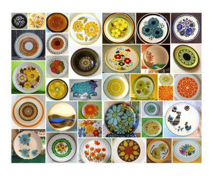 1970s stoneware plates 1